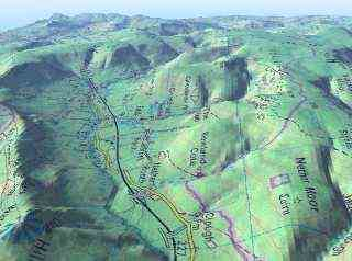 3d Terrain Map Of Uk.Trailzone Main Home Page