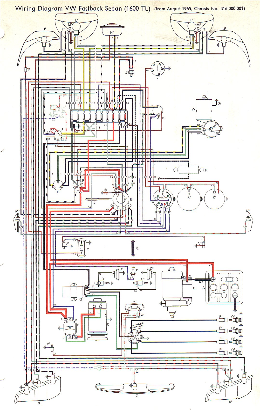 Vw Type 3 Wiring Diagrams Diagram Whole House Get Free Image About