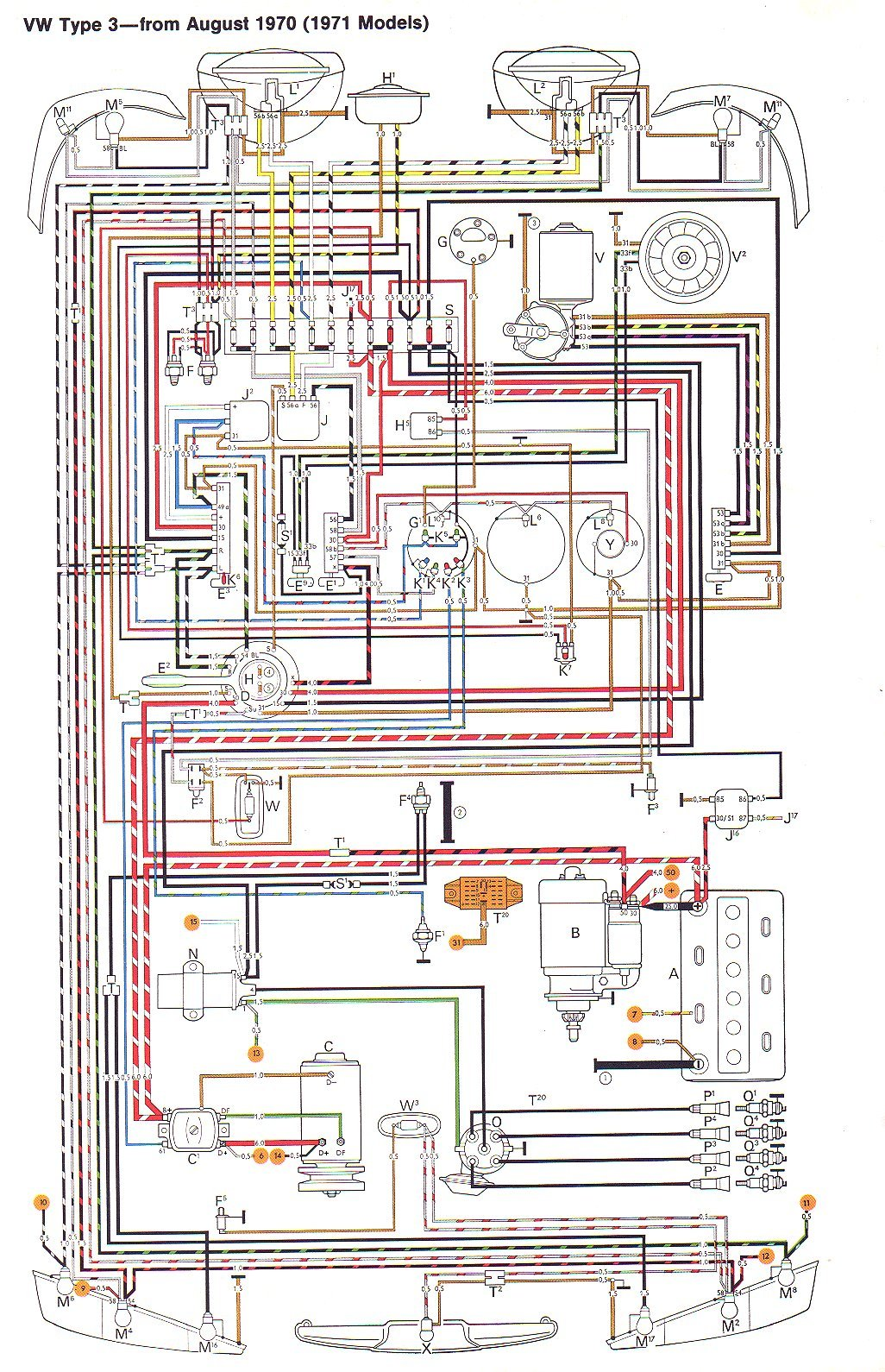 Vw Type 3 Wiring Diagrams