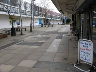 Farnborough town centre on a busy Saturday afternoon