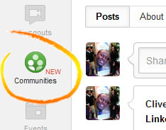 Google+ Communities getting started