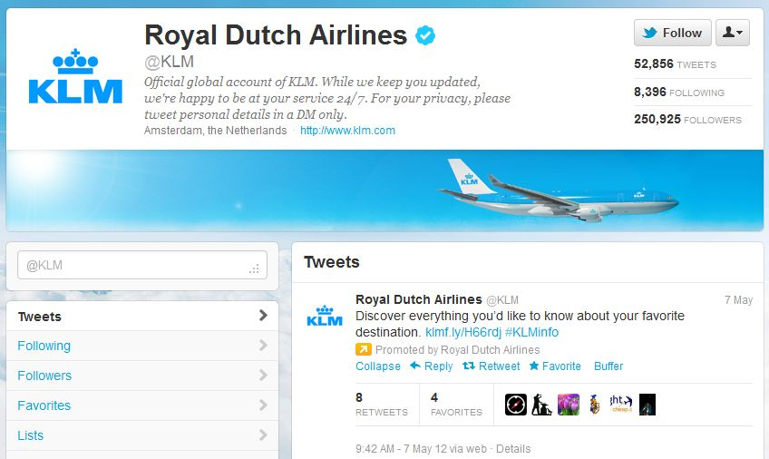 KLM customer service
