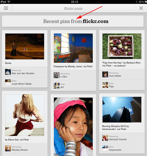 Pinterest version 2 browse the web recent pins