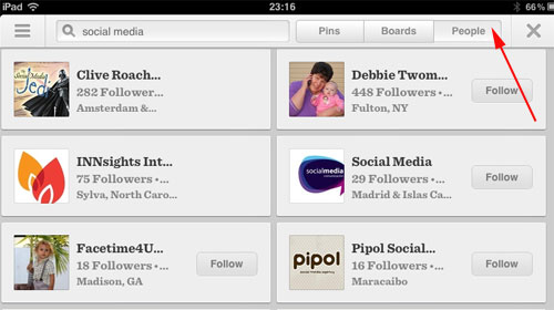 Pinterest version 2 search results - Peaople