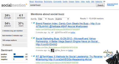 socialmention.com - Top 5 free ways to check if you have social media buzz potential