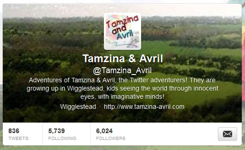 Twitter header image - Tamzina and Avril